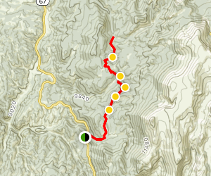 Horsethief to the Crags Trail Map