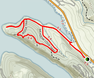 Meadow Loop and Ridge Trail Map