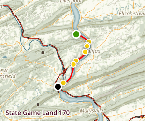 Island 93 and 89 Susquehanna River Water Trail Map