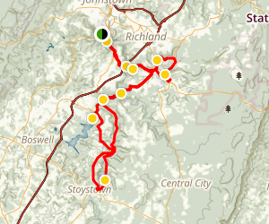 The Stonycreek Driving Tour Map