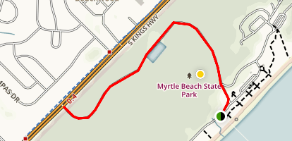 Myrtle Beach Park Trail Map