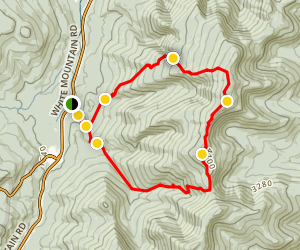 Middle and South Carter Summits Loop Map