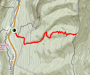 Little Haystack Mountain summit hike via Falling Waters Trail Map