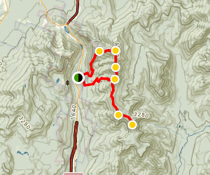 Mount Lafayette, Lincoln, Liberty, and Flume Loop Map