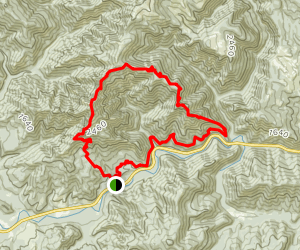 Elk Mountain to King's Mountain Loop Map