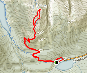Paget Peak Map