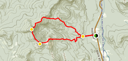 Baldface Trail Map