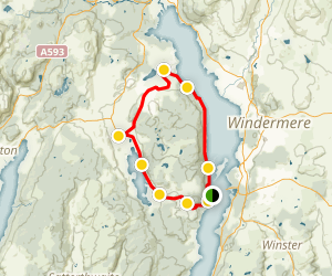 Claiffe Heights, Windermere Loop Map
