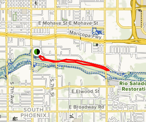 North Overbank and North Terrace Loop Trail Map
