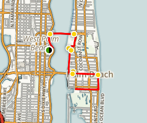 West Palm Beach Walking Tour Map
