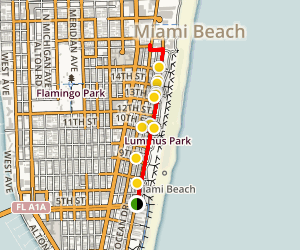 Miami's Art Deco District Walk Map