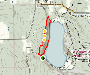 West Bluff Trail Map