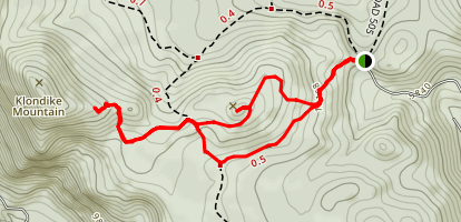 Caribou Peak Trail Map