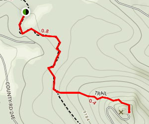 Indian Springs Trail to Big Lake Lookout Map