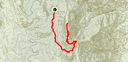 Scout Mountain - East Fork of Mink Creek Map