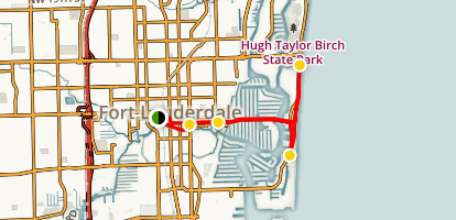 Fort Lauderdale Walking Tour Map