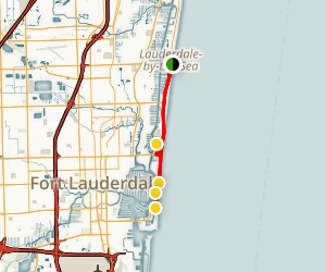 Fort Lauderdale Beaches Walking Tour Map