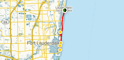 Ft Lauderdale On Map Of Florida.Fort Lauderdale Beaches Walking Tour Florida Alltrails