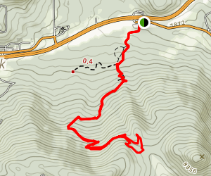 Legault Mountain Trail Map