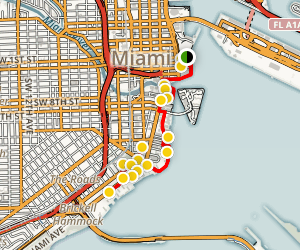 Miami Financial District Walking Tour Map