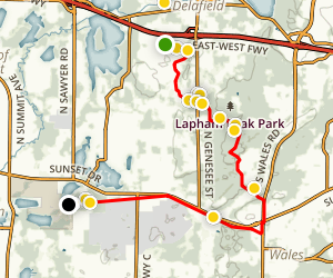 Ice Age Trail: Lapham Peak Map
