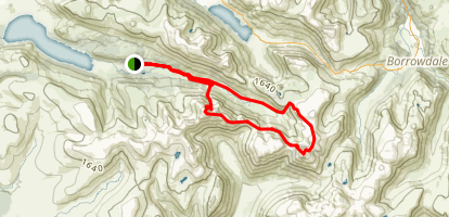 Pillar Rock and Great Gable Map
