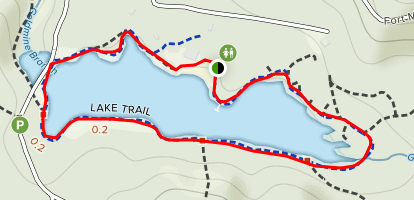 Fort Mountain Lake Loop Map