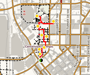 Centennial Olympic Park Walk Map