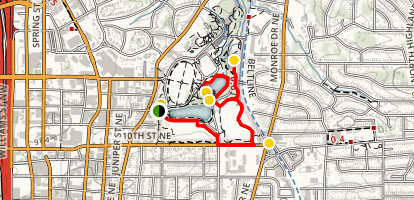 Piedmont Park Family-Friendly Walk Map