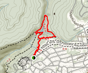 Rainbow Lake Parking Lot to Edwards Point Map