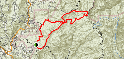 Trippet Ranch to Eagle Springs Loop Trail Map