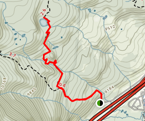 Meadow Creek Trail to Lily Pad Lake Map