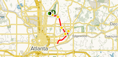 BeltLine Eastside Trail From Piedmont Park Map