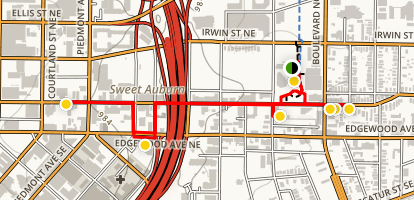 Sweet Auburn District Walking Tour Map