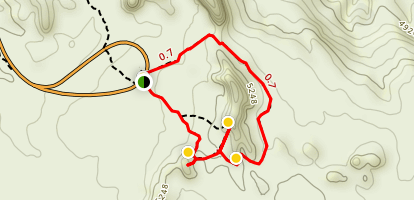 Windows Loop and Turret Arch Trail Map