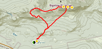 Bigelows Loop Trail Map