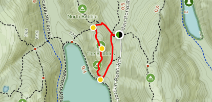 South Bubble Mountain and Jordan Pond Loop Map