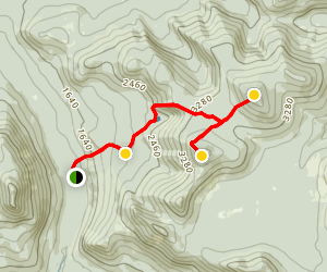 North and South Brother Trail Map
