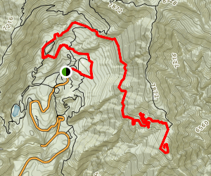 Crystal Lake to South Mt. Hawkins Trail Map
