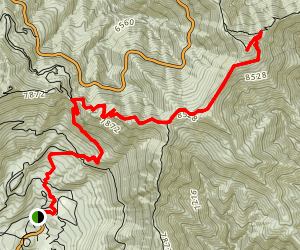 Crystal Lake to Throop Peak Map