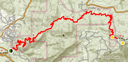 Saddle Peak via the Backbone Trail Map