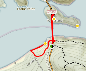 Deception Pass Bridge and Beach Trail Map