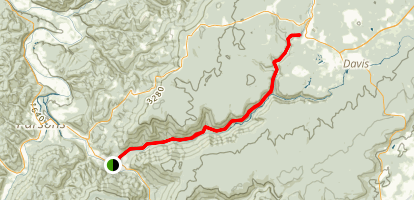 Blackwater Canyon Trail Map
