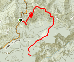 Mount Washburn Spur Trail Map