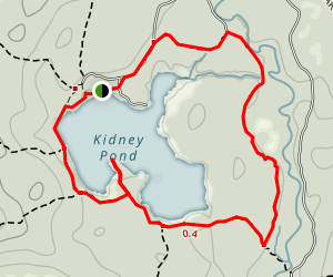 Kidney Pond Loop Map