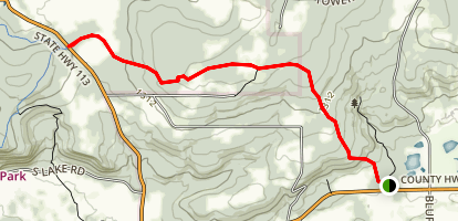 Sauk Point Trail Map
