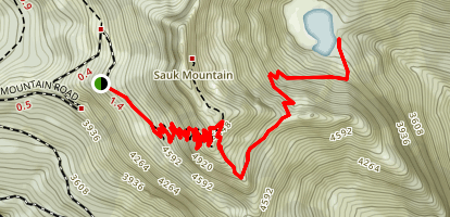 Sauk Lake Trail Map