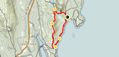 Gorham Mountain to Ocean Path Loop Map