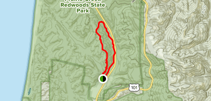West Ridge Trail to Prairie Creek Trail Loop Map