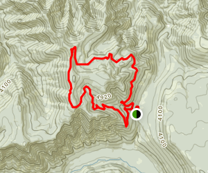 Chucksney Mountain Trail Map